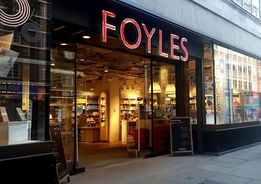 Librerie di Londra - ingresso della libreria Foyles