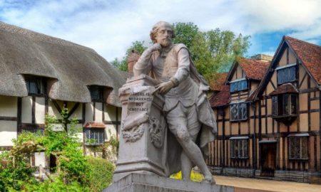 Statua Shakespeare A Stratford Upon Avon.