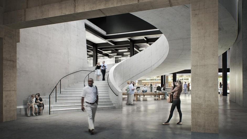 Tate Modern. Vista interni