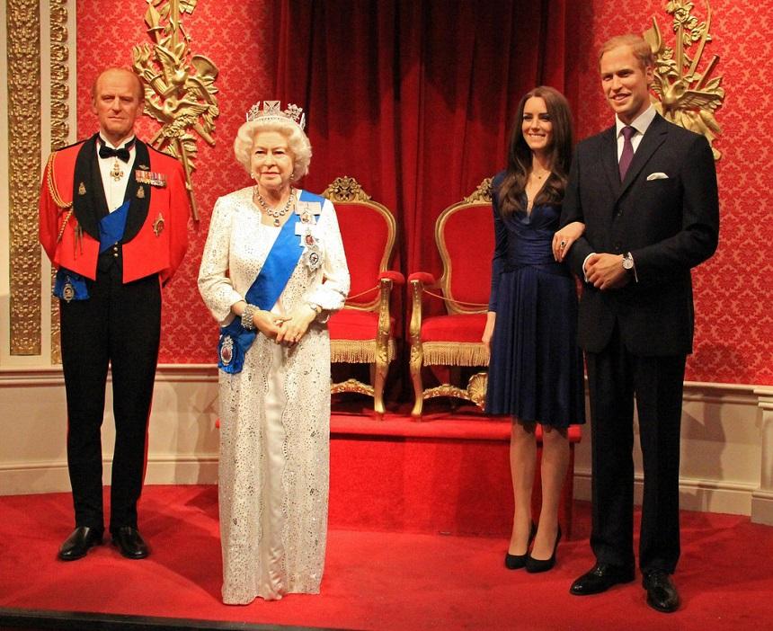 Nel museo delle cere di Madame Tussauds c'è la famiglia reale (quasi) al completo