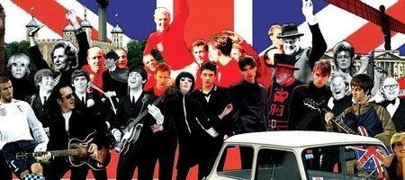 canzoni su Londra - immagine bandiera americana con cantanti