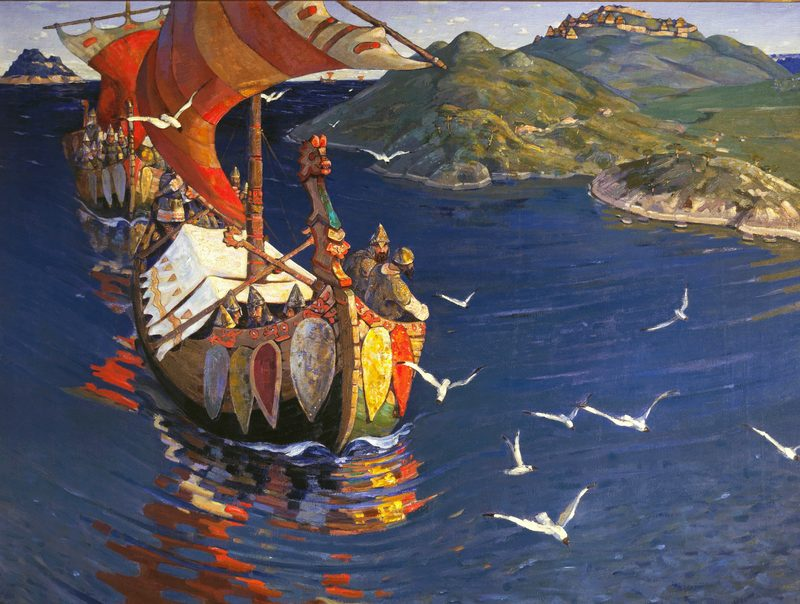 Origini Della Lingua Inglese -attacco navale dei Vichinghi