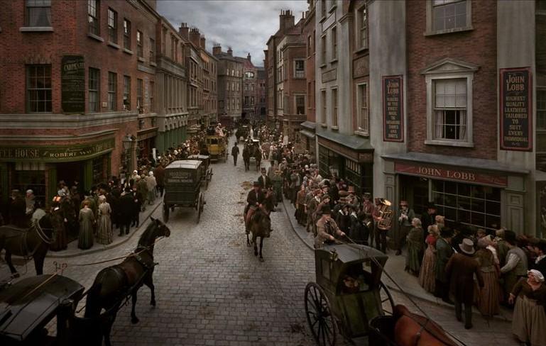 Classici ambientati a Londra- Immagine di carrozze in strada