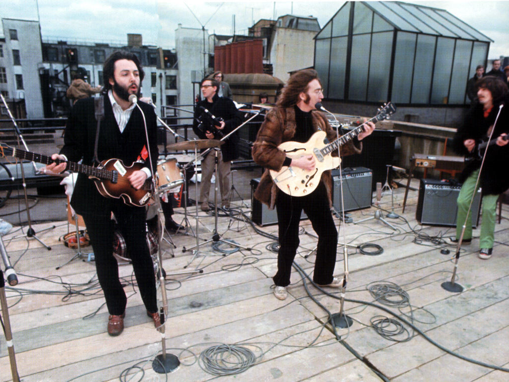 Roof Concert. Immagine tetto. Londra e i Beatles.