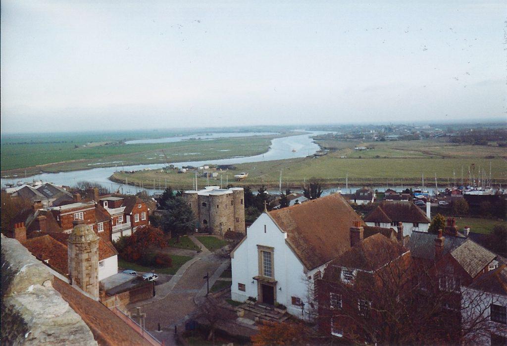 Visitare Rye. Immagine vista città dall'alto.