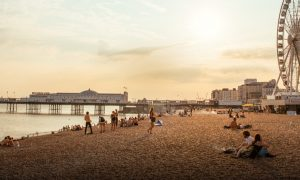 Da Londra a Brighton- la spiaggia