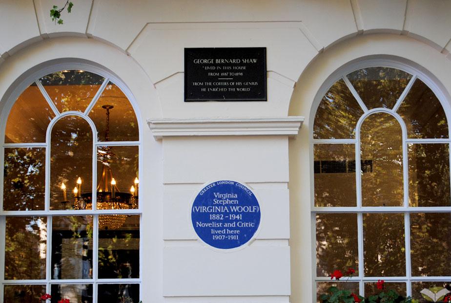 Virginia Woolf a Londra- Targhe Commemorative