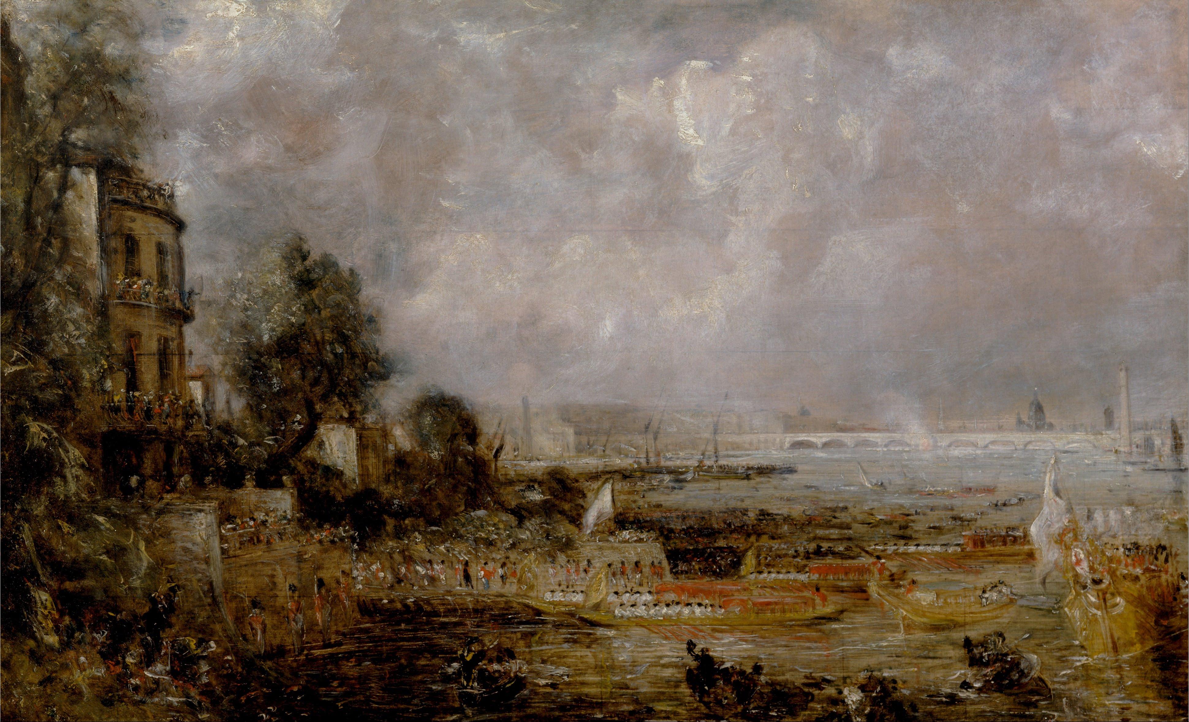 il Waterloo Bridge in un dipinto di Constable