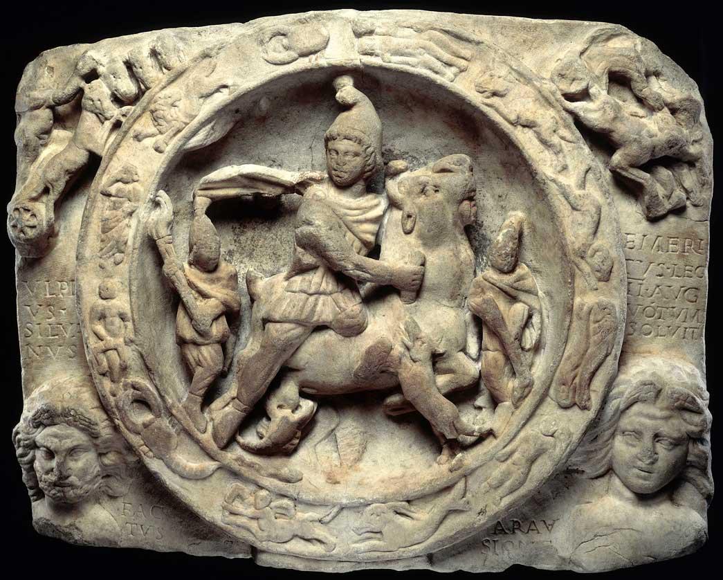 Tempio di Mitra a Londra, Mitra che sacrifica il toro