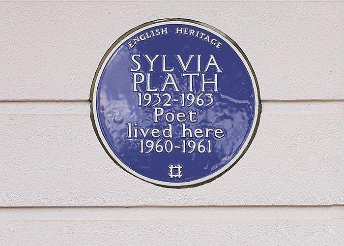 I luoghi di Sylvia Plath a Londra- Placca Sylvia Plath