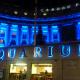 Acquario Di Londra illuminato con luci blu