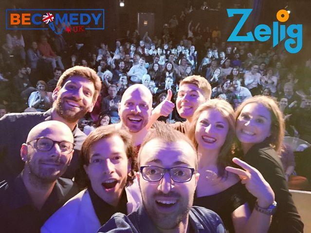 Il gruppo di BeComedy allo Zelig