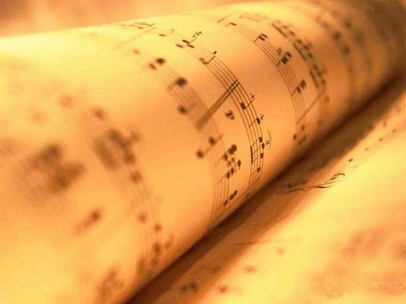 La lingua italiana - Uno spartito musicale
