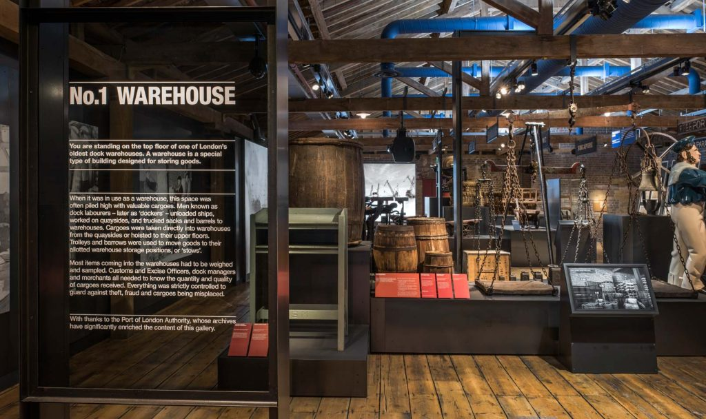 Warehouse in Museum of London Docklands