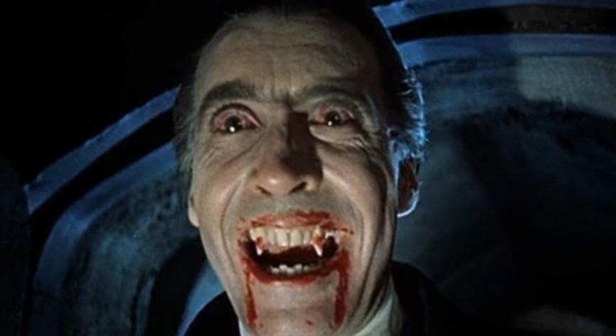 Christopher Lee - In una scena di Dracula