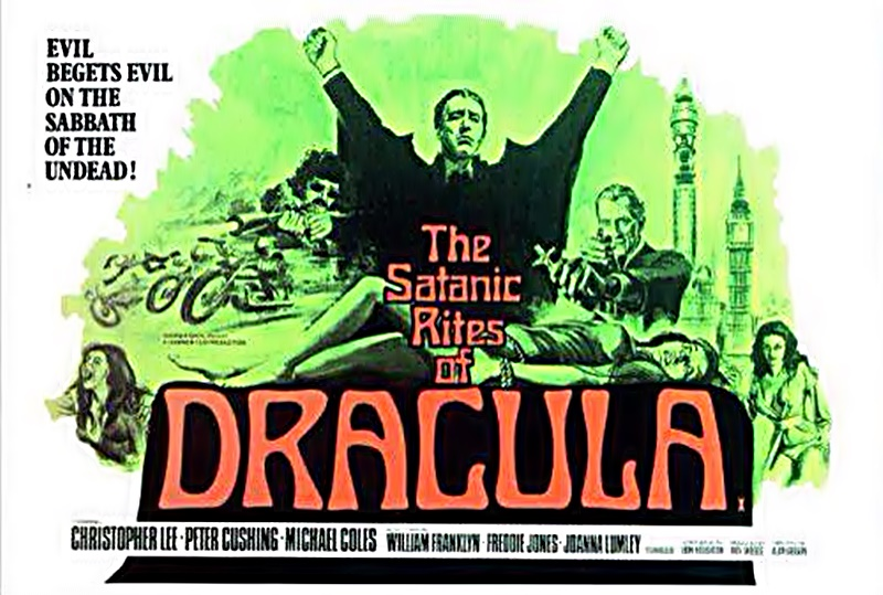 Christopher Lee - il manifesto del Film di Dracula