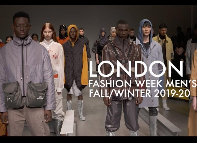 settembre - locandina del London fashion week men's 2019/20