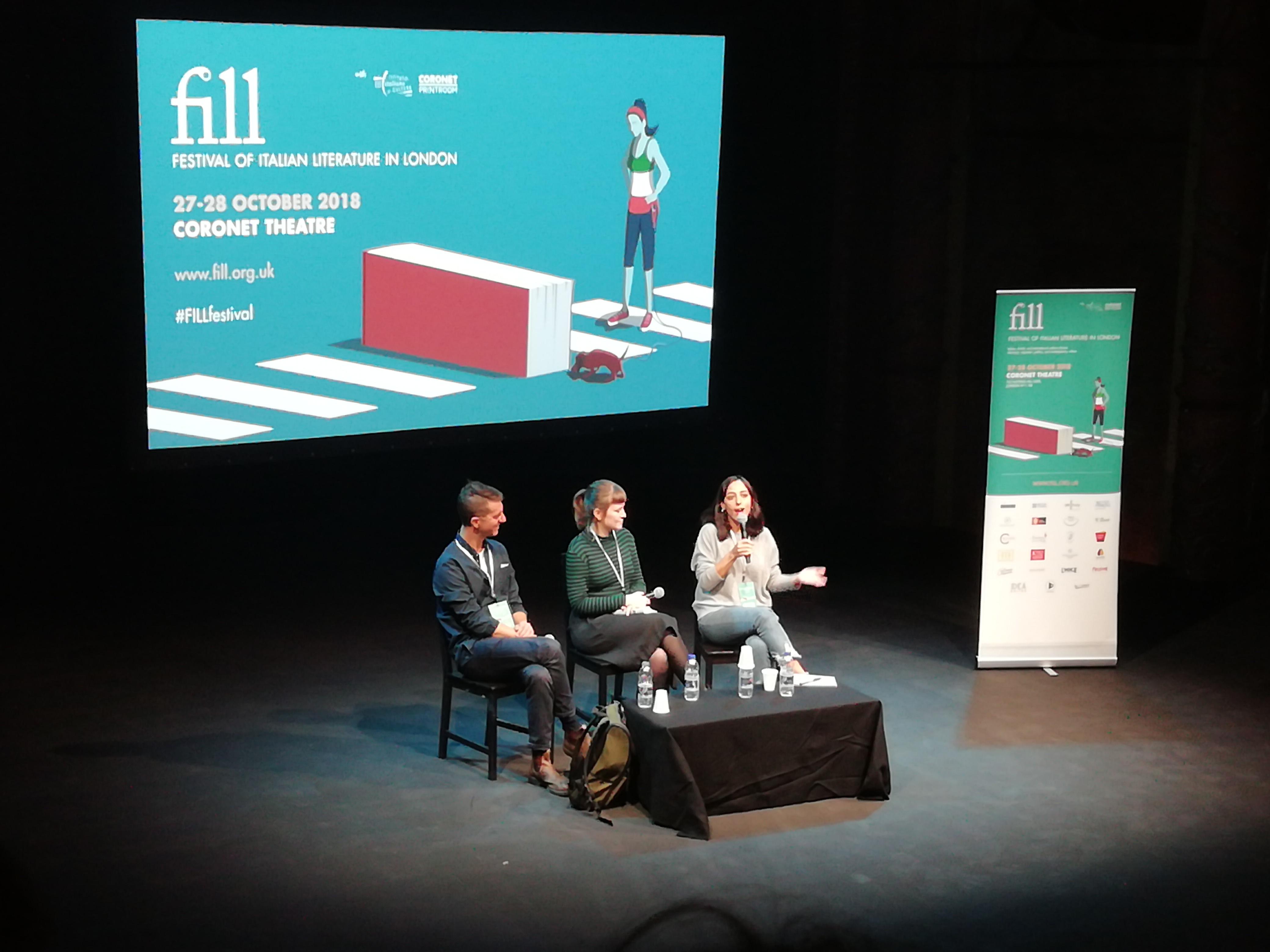 Festival della Letteratura Italiana: foto dell'edizione 2018, persone che parlano