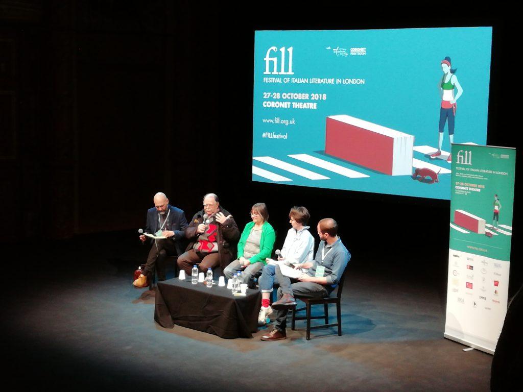 Festival della Letteratura Italiana: conferenza edizione 2018, 5 persone che parlano
