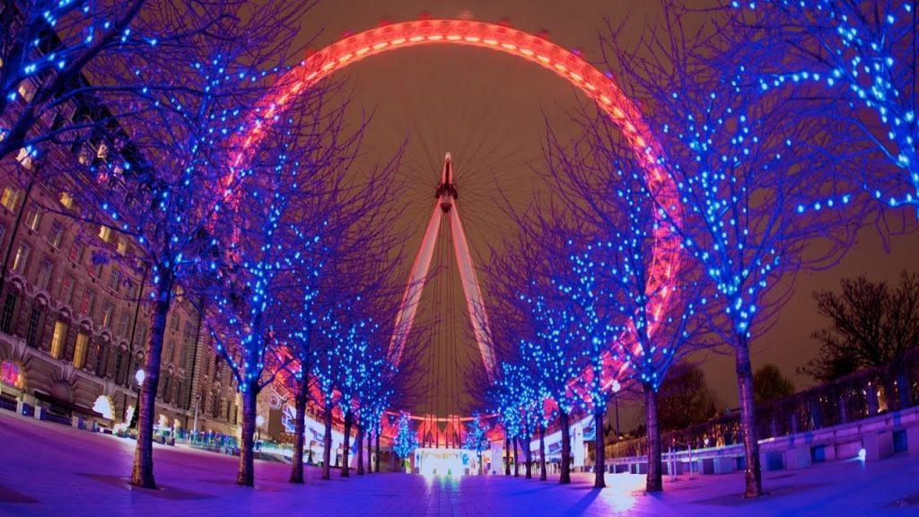 Luci Di Natale A Londra London Eye