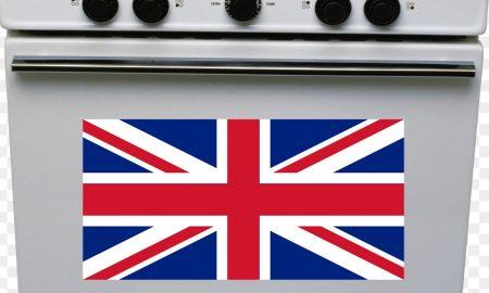 La cucina a gas - Cucina con bandiera inglese