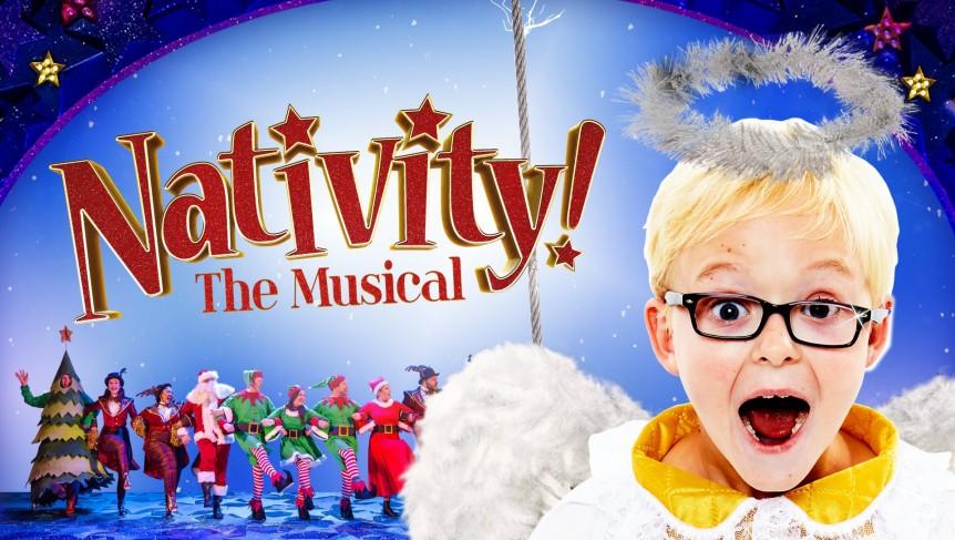 Locandina musical Nativity con bambino biondo