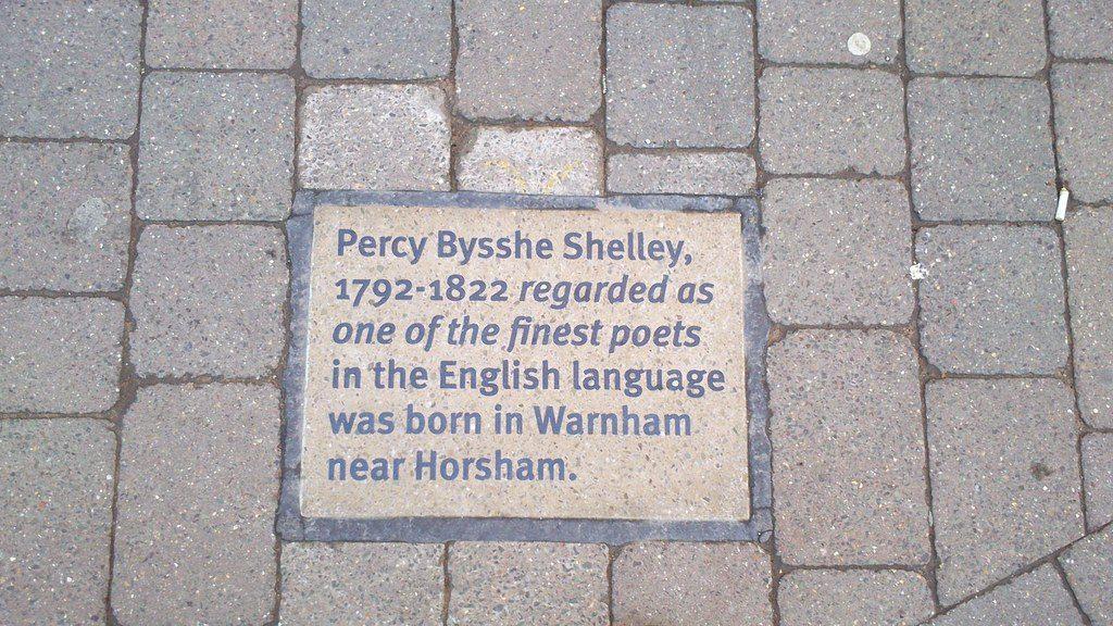 Shelley - targa del poeta inglese