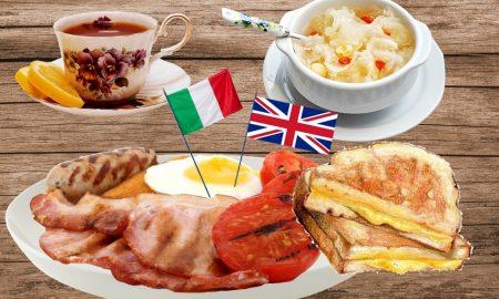 English breakfast - Vassoio con la colazione