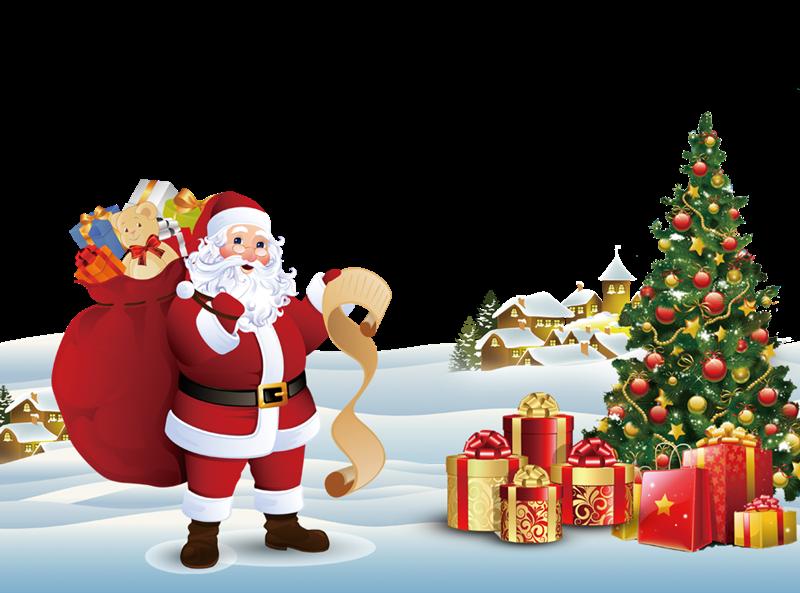 Albero di Natale - Babbo Natale con la slitta