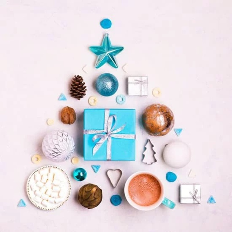 Albero di Natale - Albero Composto di decorazioni