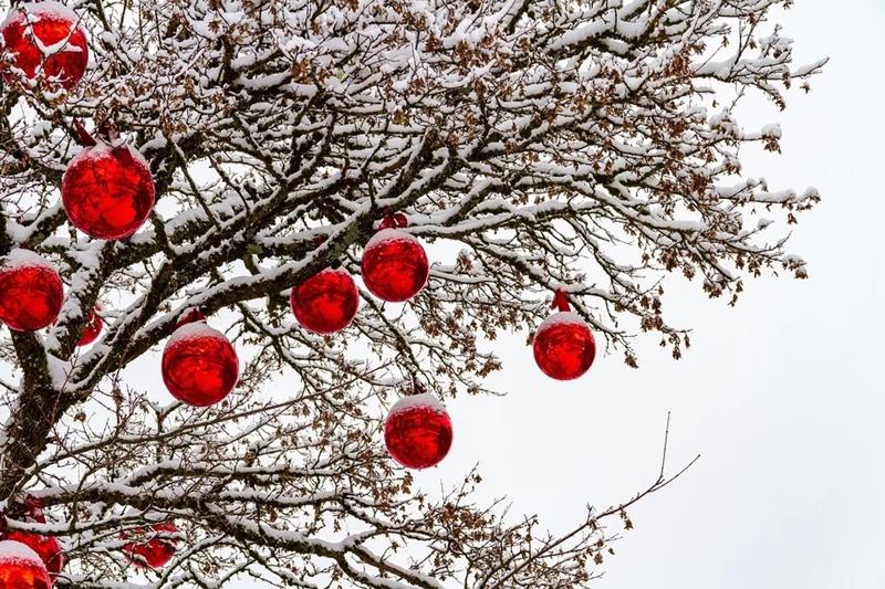 Albero di Natale - Palle Rosse decorative