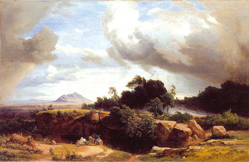 grand tour - Campagna Romana dopo il temporale