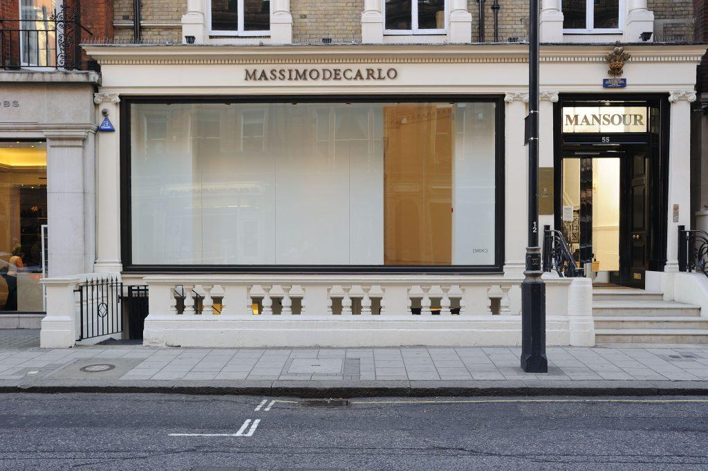 Massimo di Carlo: vetrina galleria Londra