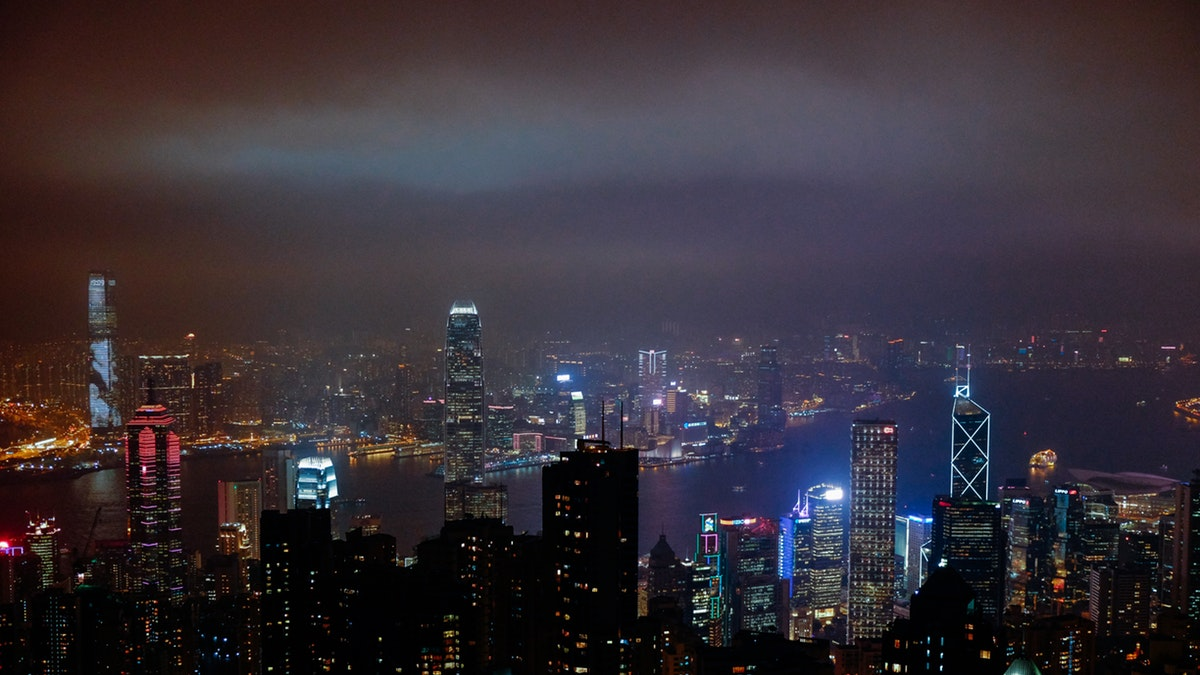 Skyline di Hong Kong dove Massimo de Carlo ha una galleria
