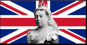 la regina Vittoria - Union Jack con la regina Vittoria