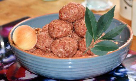 Ruota di carne - Polpette da assemblare con cipolla