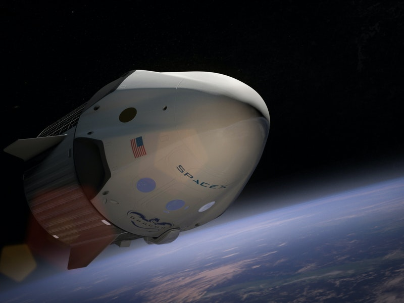 Spazio. la navicella di Elon Mask