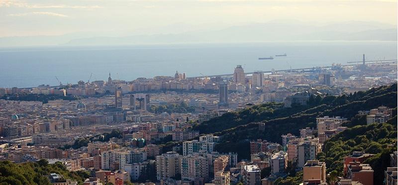 Sergio Pizzorno - panorama di Genova