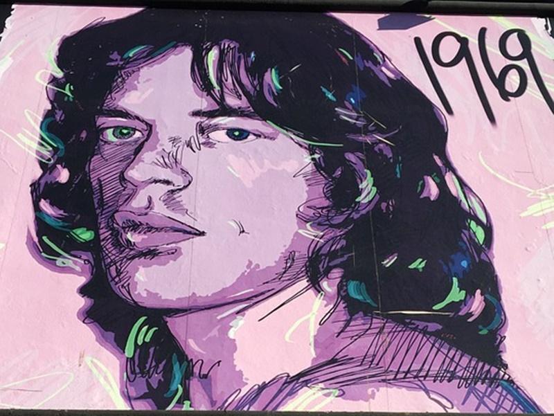 Mick Jagger a Castagneto Carducci  -  Jagger in un dipinto