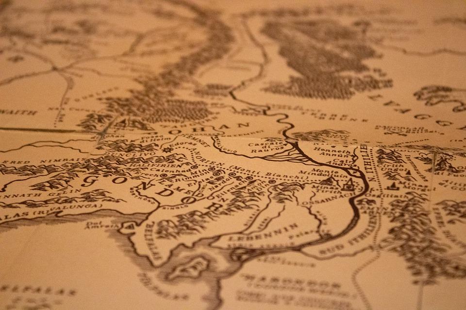 Il Signore degli anelli - Terra Di Mezzo Mappa