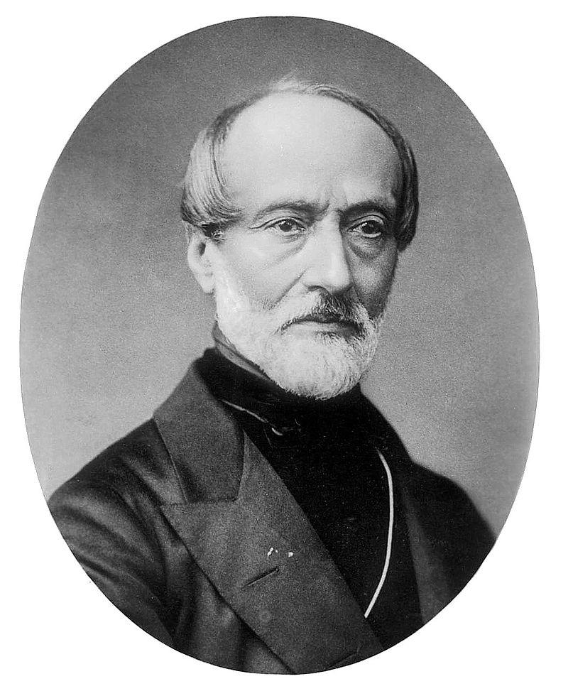 Giuseppe Mazzini - Ritratto Fotografico Di Mazzini in vecchiaia