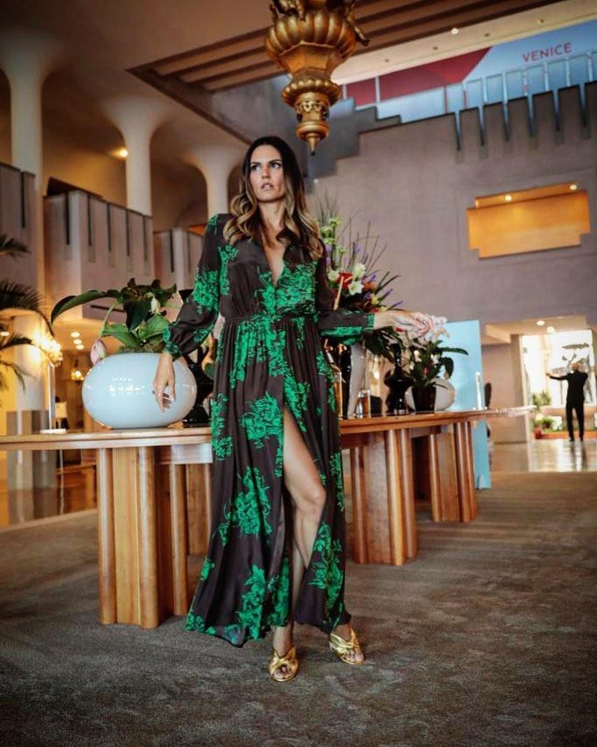 Roberta Mastromichele - Roberta in abito lungo verde