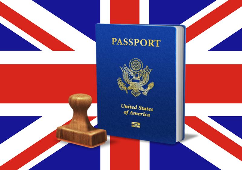 Visto e passaporto - Bandiera e timbro