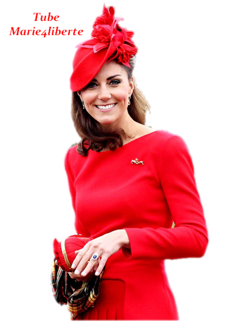 Kate Middleton - Kate In Rosso con cappellino