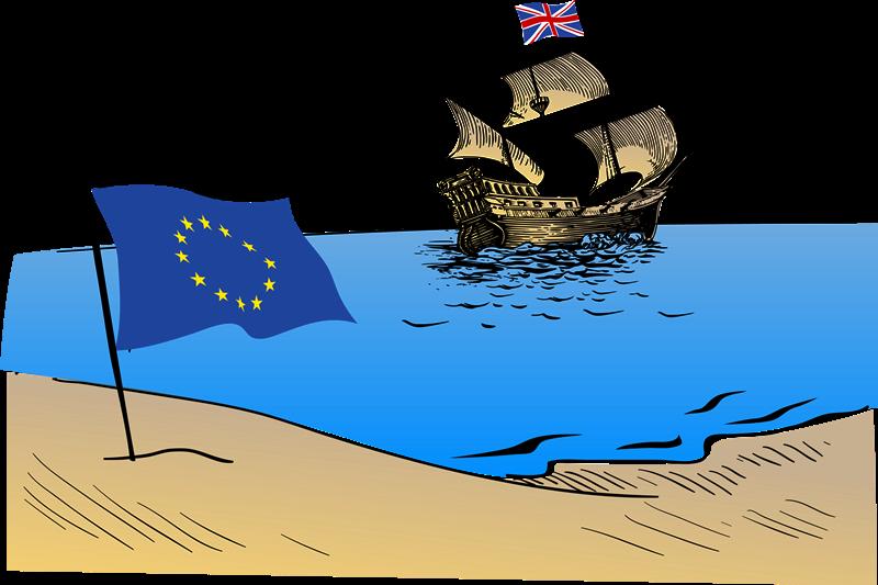 Studiare in Inghilterra - vignetta evocativa della brexit