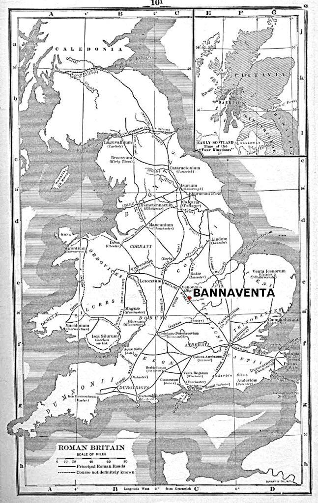 Bannaventa - cartina della Britannia