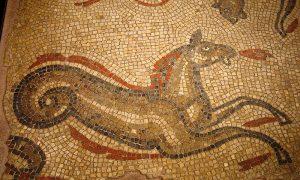 Bannaventa - mosaico di Ippocampo