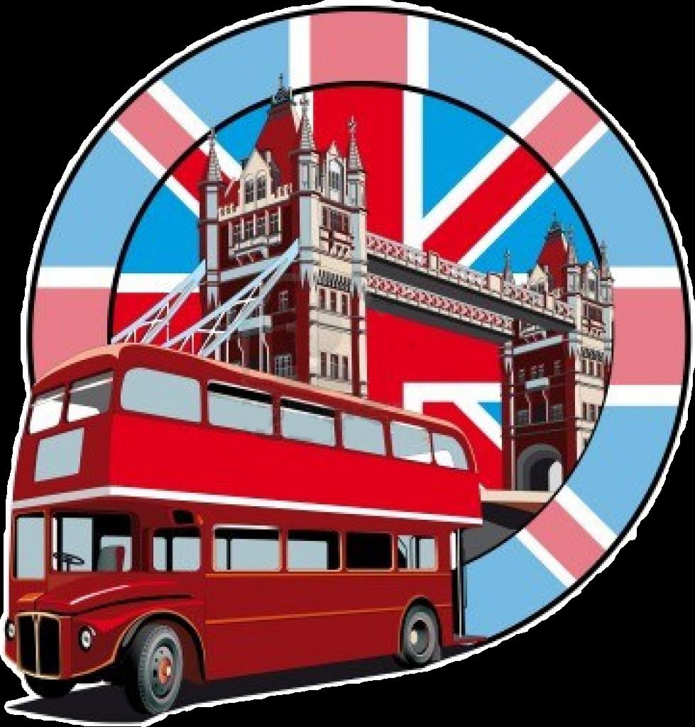 Lavorare in Inghilterra - foto di bus e Union Jack