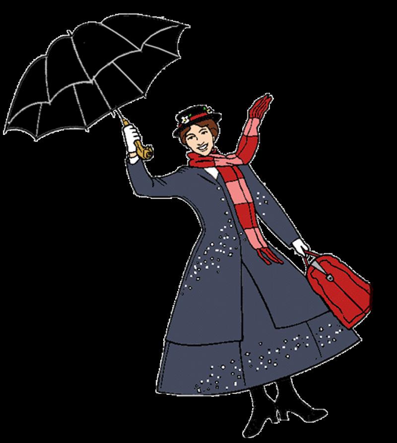 Crescere i figli in UK - cartoon di Mary Poppins