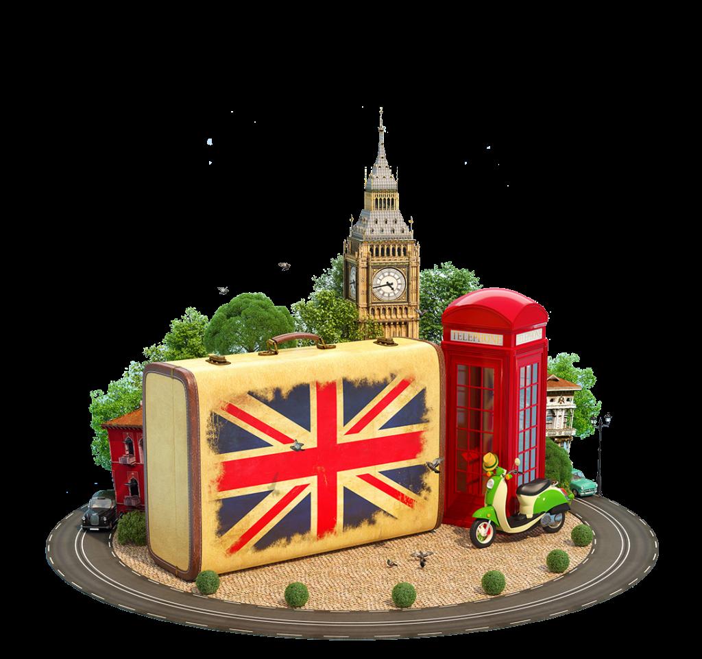 valigia - Valigia uk e simboli britannici